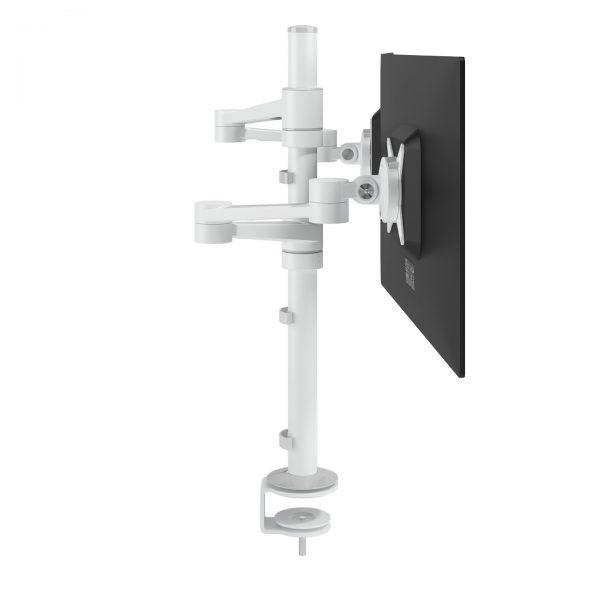 Braço de monitor duplo com profundidade e altura - Mesa