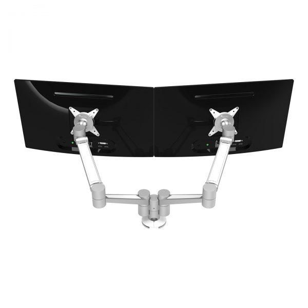 Braço de monitor duplo com profundidade e altura - Mesa Plus