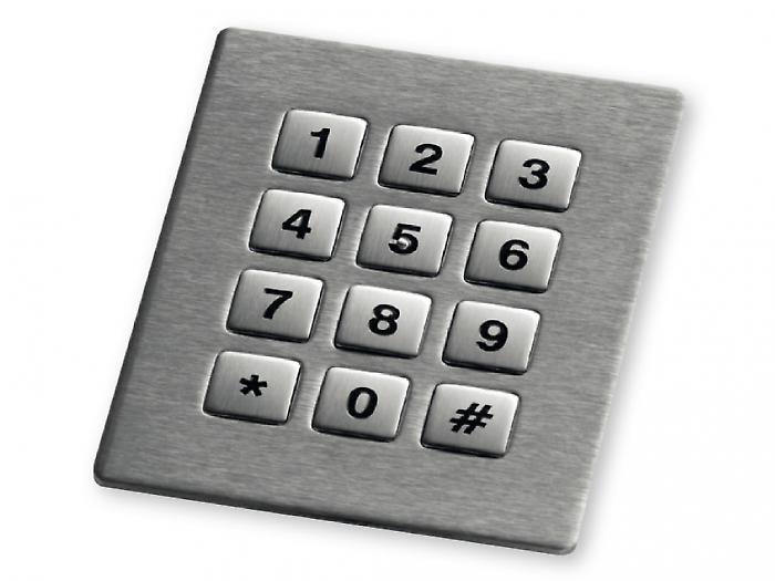 Keypad em Aço Inox (montagem frontal)