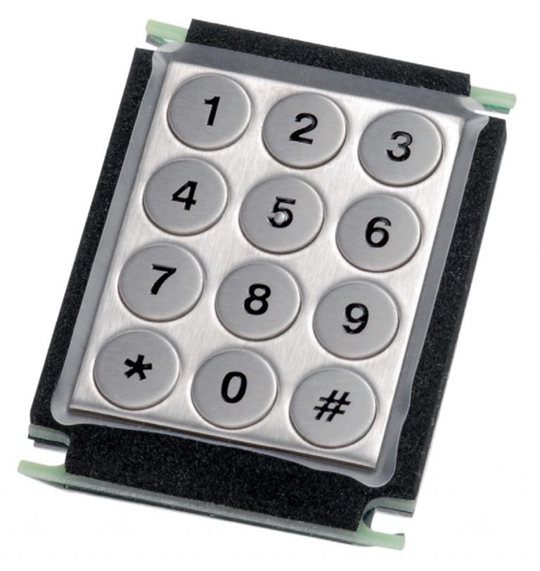 Keypad em Aço Inox (montagem traseira)