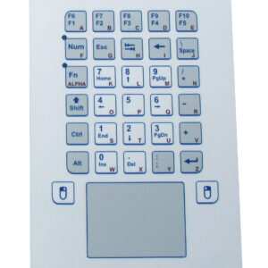 Keypad Industrial com Touchpad (montagem frontal)