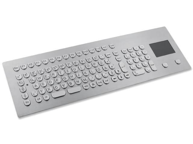 Teclado em Aço Inox com Keypad e Touchpad (montagem frontal)