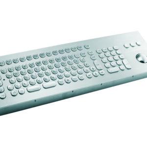 Teclado em Aço Inox com Keypad e Trackball (montagem frontal)
