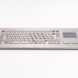 Teclado em Aço Inox com Touchpad (Desktop)