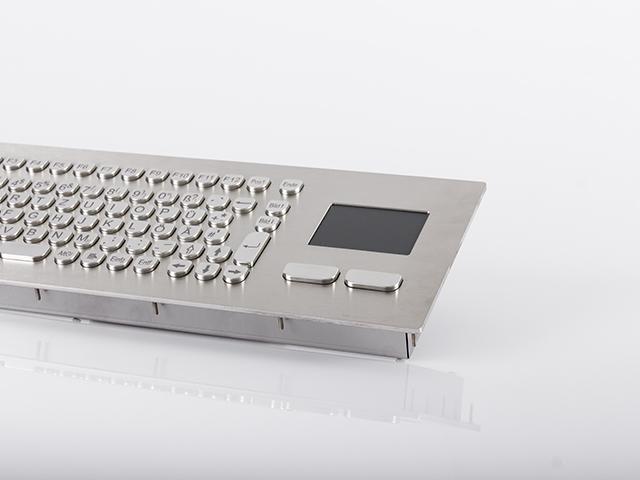 Teclado em Aço Inox com Touchpad (montagem frontal)