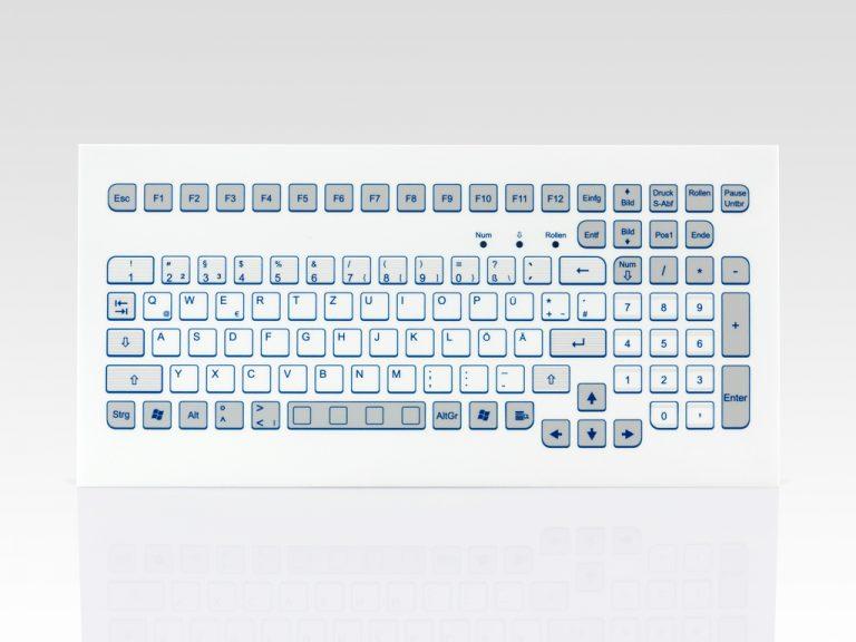 Teclado Industrial com Keypad (montagem frontal compacta)