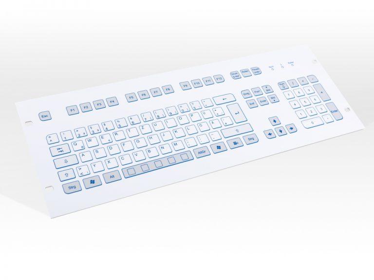 Teclado Industrial com Keypad (Rack)