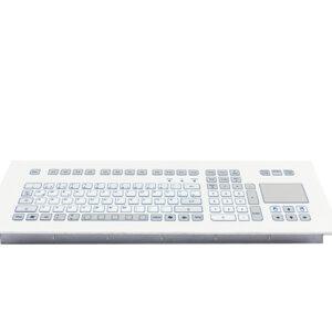 Teclado Industrial com Keypad e Touchpad (montagem frontal)