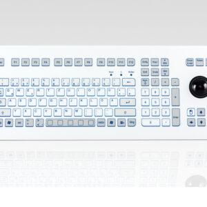 Teclado Industrial com Keypad e Trackball (Rack)