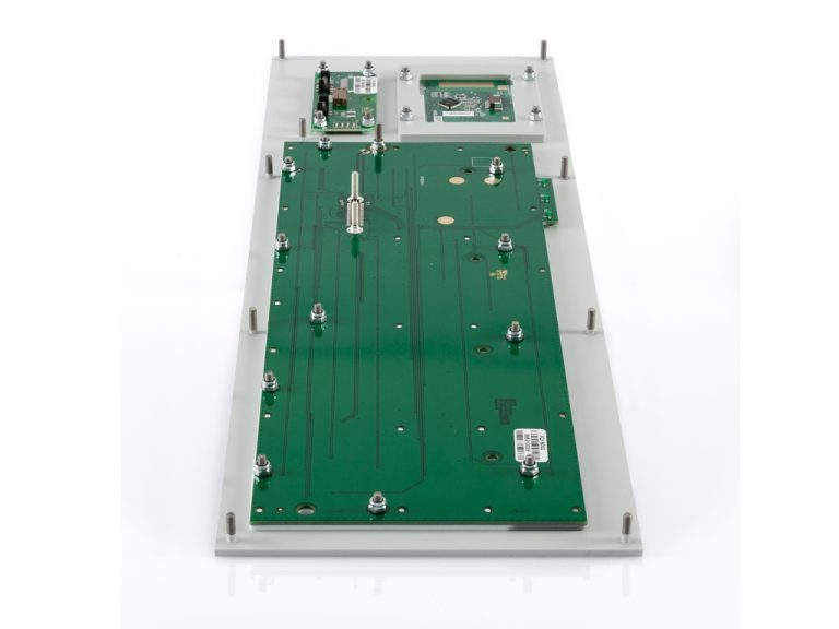 Teclado Industrial com teclas silicone e Touchpad (montagem frontal)