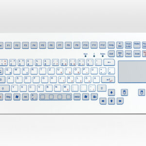 Teclado Industrial com Touchpad (montagem frontal)