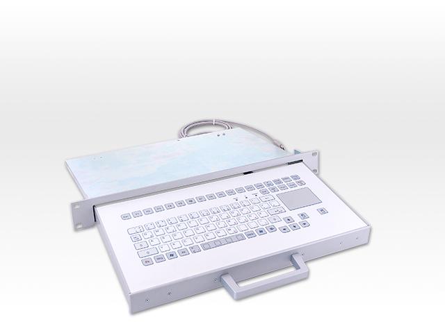 Teclado Industrial com Touchpad (em gaveta)